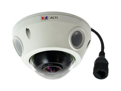 ACTi E925, 5MP Outdoor Mini Fisheye Dome, Network Surveillance Camera