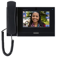 Aiphone IX-MV7-HB IP Master Station with Handset, Black