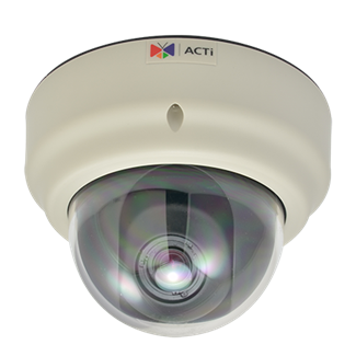 ACTi KCM-3311, 4MP Zoom Dome, Network Surveillance Camera