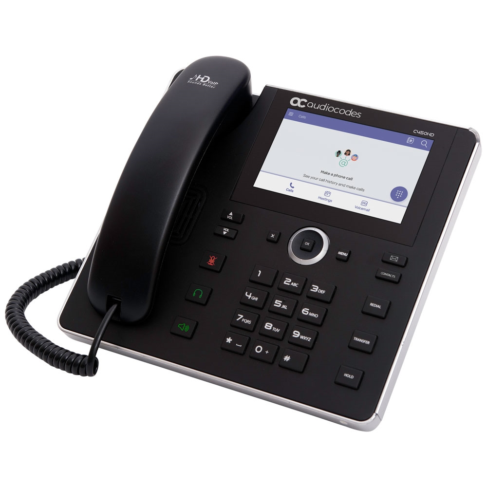 AudioCodes C450HD 8-Line Gigabit IP Phone for Microsoft Teams