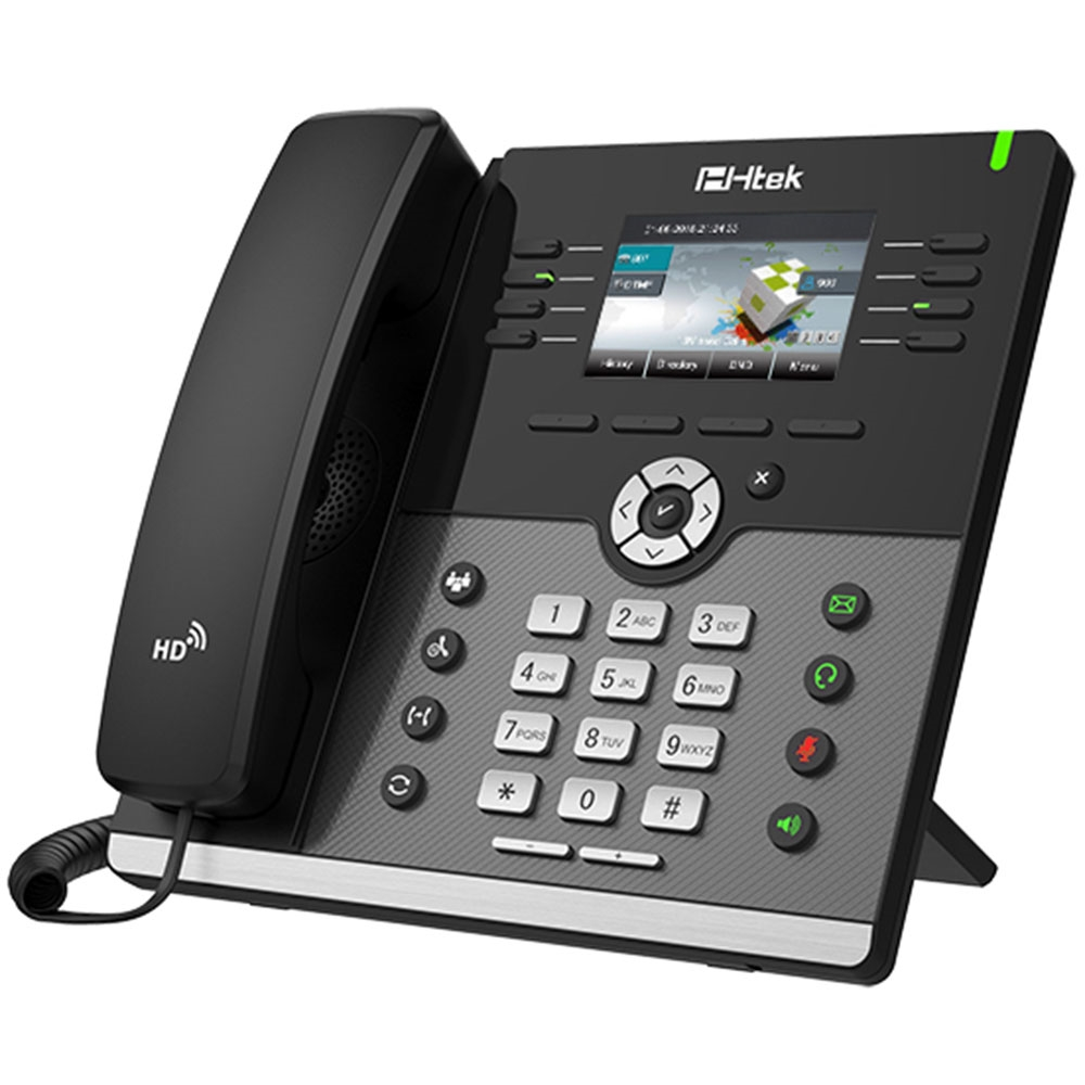 HTEK UC924 Gigabit Color VoIP IP Business Phone PoE  4-Lines NEW