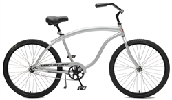 ABC Heavy Duty Mens Cruiser Bike - Silver