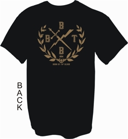 Born By The Blood Crest Christian T-Shirt in Black