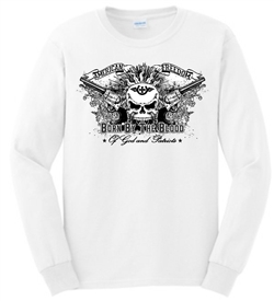 American Freedom Skull & Guns Long Sleeve Patriotic T-Shirt