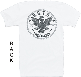 Born By The Blood Live Forever Phoenix Christian T-Shirt in White