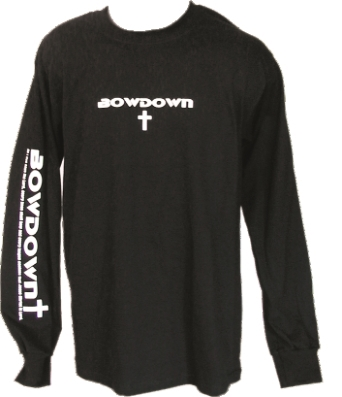 Every Knee Shall Bow Down Long Sleeve Christian T-Shirt