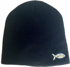 Jesus Fish Beanie in Black