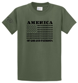 America Born by the Blood of God and Patriots T-Shirt
