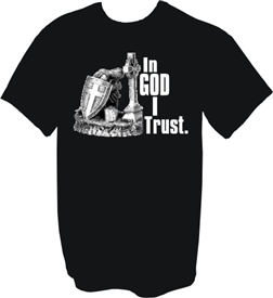 In God I Trust Like a Warrior Christian T-Shirt
