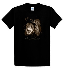 The Lion Of Judah Fights My Battles Men's T-Shirt in Black