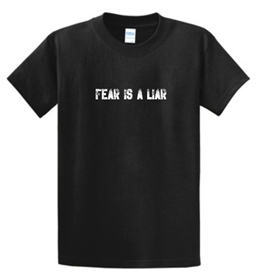 Fear Is A Liar Men's T-Shirt in Black