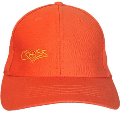 Cross Christian Orange Flexfit Trucker Cap
