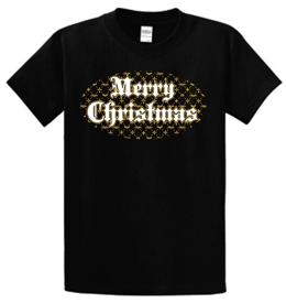 Merry Christmas Believe Christian Youth T-Shirt in Black