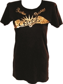 Foil Winged Cross with Sunburst Christian Shirt