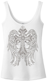 Angelic Ladies White Christian Tank Top