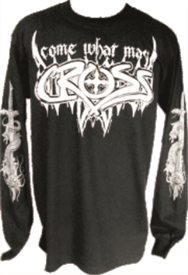 Come What May Long Sleeve Christian T-Shirt in Black