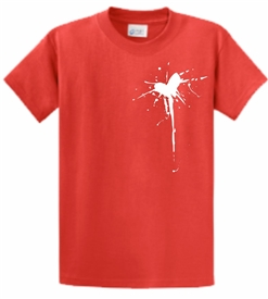 Your Sin His Blood Heart Cross T-Shirt in Red