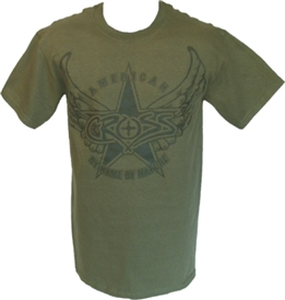 American Patriotic Christian T-Shirt in Green