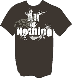All or Nothing Christian T-Shirt in Black