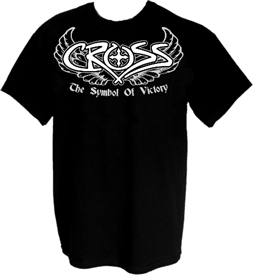 The Symbol of Victory Wings Christian T-Shirt in Black