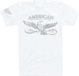 American By Name By Nature T-Shirt in White
