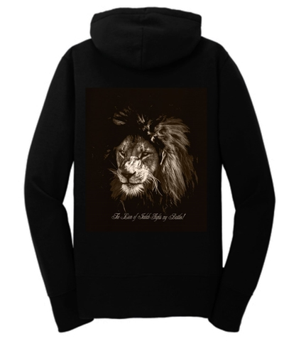 The Lion Of Judah Fights My Battles Women's Zip Hoodie Fleece