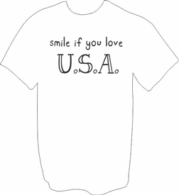 Smile If You Love USA Patriotic T-Shirt