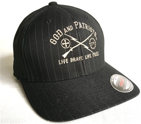 God And Patriots Brave & Free Patriotic Flexfit Hat B-ST