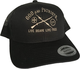 God And Patriots Patriotic Snapback Trucker Cap Black