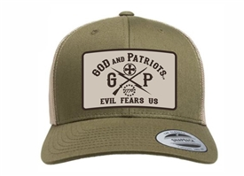 God And Patriots Patriotic YP Classics Trucker Cap Green