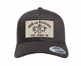 God And Patriots Patriotic YP Classics Trucker Cap Black