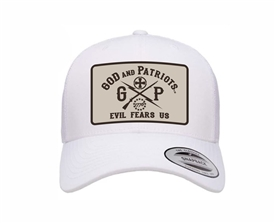 God And Patriots Patriotic YP Classics Trucker Cap White