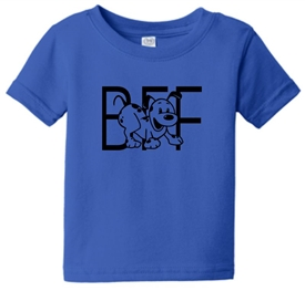 Best Friends Forever Puppy Dog Infant Toddler T-Shirt Blue