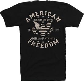 Stars & Stripes Eagle Freedom Patriotic T-Shirt KB