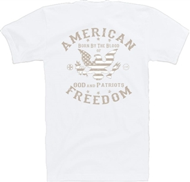 Stars & Stripes Eagle Freedom Patriotic T-Shirt KW