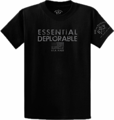 Essential Deplorable Patriotic T-Shirt Black