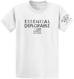 Essential Deplorable Patriotic T-Shirt White