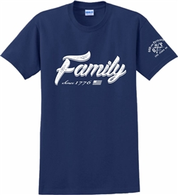 Family Since 1776 Patriotic T-Shirt Navy Blue