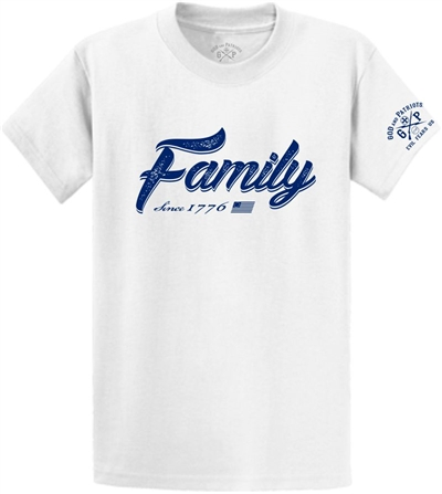 Family Since 1776 Patriotic T-Shirt White