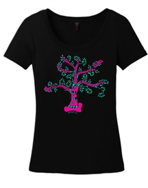 Fruit Of The Spirit Tree Scoop Neck Tee Shirt