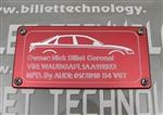 Billet Technology ID Plate for Audi