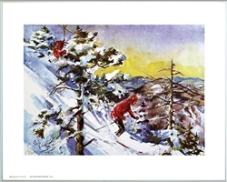 Killington Vermont Ski Poster Signed By Cecile Johnson