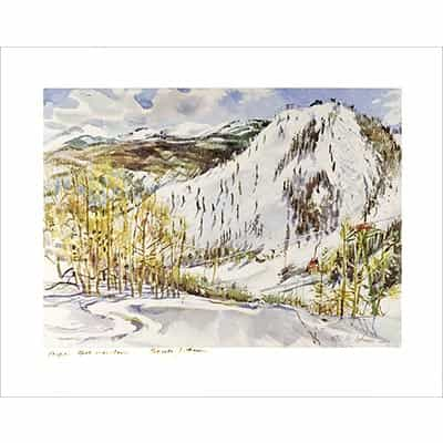 Bell Mountain at Aspen, CO Poster Signed By Cecile Johnson