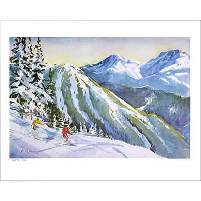 Keystones North Peak Ski Poster Signed By Cecile Johnson
