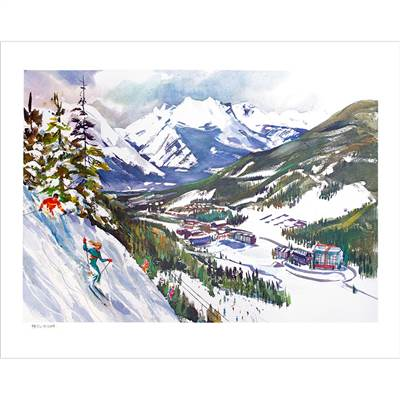 Keystones Peru Ridge Ski Poster Signed By Cecile Johnson