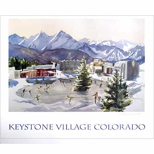 Keystone Village, CO Poster Signed By Cecile Johnson