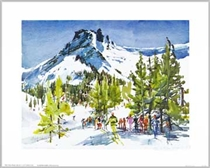 Kirkwoods Thimble Peak, CA Poster By Cecile Johnson