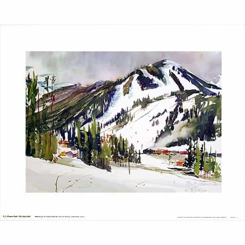 Winter Park, CO Poster Signed By Cecile Johnson
