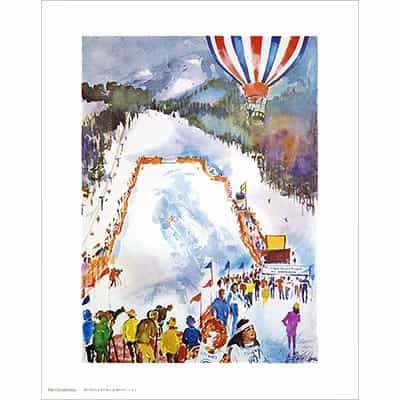 Colgate Womens Ski Championships Poster Signed By Cecile Johnson