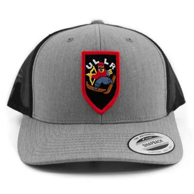 Grey & Black Snapback Ball Cap with Iconic Ullr Patch